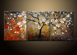 Handpainted Abstract Landscape Art Tree Painting on Canvas pictures & photos
