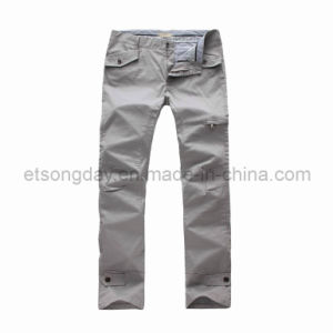 New Design Cotton Spandex Men′s Grey Trousers (GAUDI-51) pictures & photos