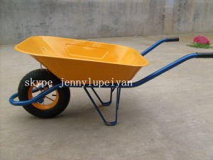 Yard Hand Trolley Barrow Cart with Rubber Wheels Wb6400 pictures & photos