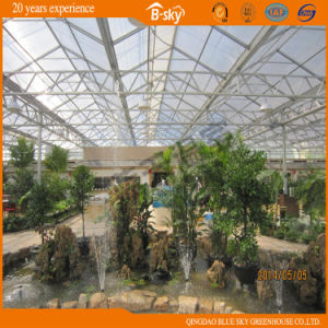Top PC Board Covered Greenhouse with Glass Facade pictures & photos