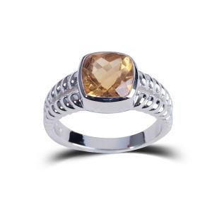 Wedding Birthday Memorial Natural Stone Jewelry Rings Fashion Orange