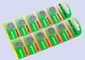 3V Primary Lithium Battery Cr1620 for Finger Top