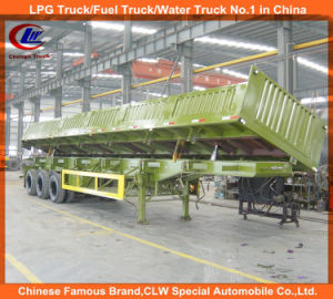 Heavy Duty 3 Axle 40ton Mineral Side Tipper Semi Trailer pictures & photos