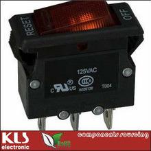 Overload Switch, Thermal Overload Switch, Thermal Circuit Breaker, 125V 250V 3A 4A 5A 6A 7A 8A 9A 10A 11A 12A 13A 14A 15A 16A 17A 18A 19A 20A, UL RoHS CE UL