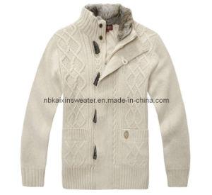 Men′s Fashion Wool Jacquard Cardigan (KX-W39)