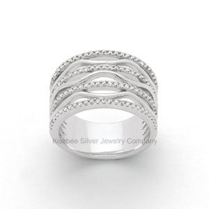 Latest Sterling Silver Jewelry High Quality CZ Finger Ring pictures & photos