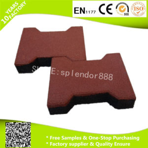 20mmx16mm Anti Slip Dog Bone Interlock Shape Rubber Paver for Horse Stable Playground Flooring Tiles pictures & photos