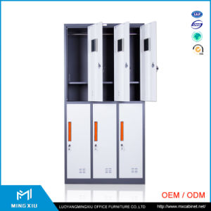 Luoyang Mingxiu High Quality 6 Door Cheap Steel Storage Cabinet / Metal Locker pictures & photos
