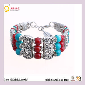 Costume Red and Green Glass Balls Alloy Bangle pictures & photos