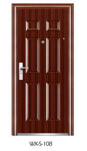 Steel Security Door (WX-S-108) pictures & photos