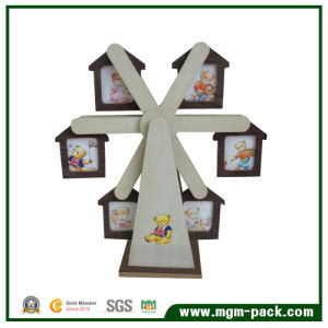 Special Design Windmill-Shaped Wooden Gift Picture Frames pictures & photos