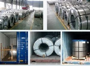 Hot Rolled Galvanized / Colored Coated Steel Coil