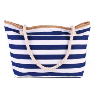 The New Trend of High - Capacity Striped Canvas Bag Mummy Bag Fashion Shoulder Bag pictures & photos