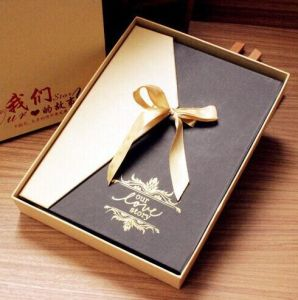 Golden Rigid Paper Presentation Box pictures & photos