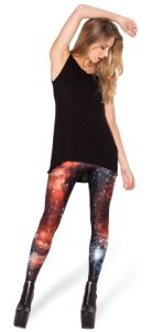 Colorful Fashion Flexible Galaxy Red Leggings, Sexy Tight Red Galaxy Leggings (G01) pictures & photos