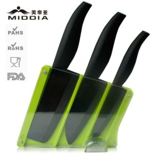 4PCS Kitchen Knife Set with Green Holder pictures & photos