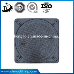 Road Sanitary Sand Casting Wrought Iron Double Hinged Sealed Round Opening 600mm Sewer Manhole Cover pictures & photos
