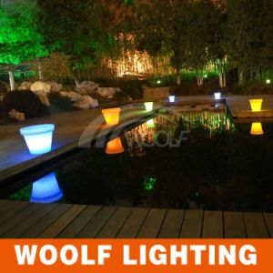 Modern Luxury LED Outdoor Plastic Flower Pots pictures & photos