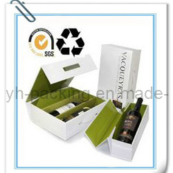 Recyclable Paper Folding Wine Box (No. 008)