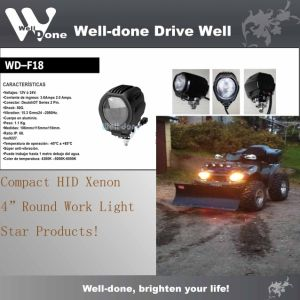 Mini 4′ Powerful HID Xenon Driving Light, Auxiliary Light and Offroad Light for ATV, UTV 4x4, Offroad, Motor (WD-F18)