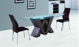 Modern Chinese Home Glass Metal Dining Room Furniture pictures & photos