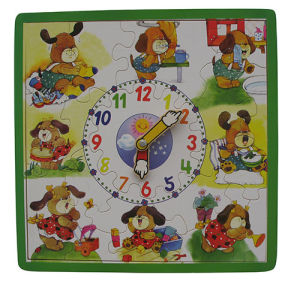 Wooden Puzzle Clock Educational Puzzle pictures & photos