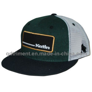 Flat Bill Snapback Twill Mesh Custom Baseball Trucker Cap (TMFL8836-1) pictures & photos