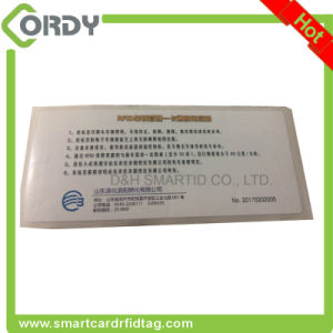 EPC Gen2 h3 chip RFID UHF adhesive windshield label for Vehicle Management pictures & photos