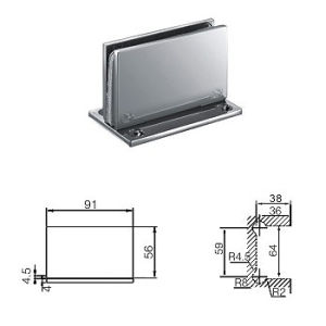 Shower Room Glass Fitting / Glass to Wall Fixing (C-106)