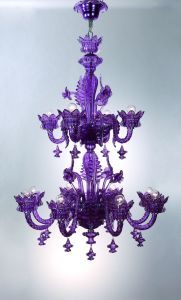 Hotel Decorative Purple Fantasy Glass Pendant Lights (MD5283-8+4) pictures & photos