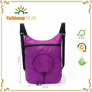 New Women Men Shopping Bag Drawstring Backpack Travel Sport Satchel Folding Tote Bag pictures & photos