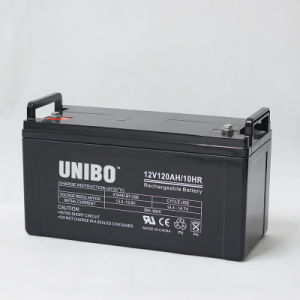 High Quality 12V120ah Solar System AGM Lead Acid Battery Solar Battery pictures & photos