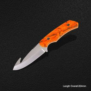 Fixed-Blade Knife with Camouflage & Gut Hook (#3822) pictures & photos