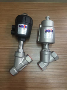 Manufacturer Upgrade Pneumatic Stainless Steel Thread Ends Bsp/BSPT/NPT Angle Seat Valve