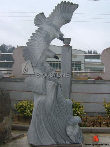 Grey Natural Granite Stone Carved Statue Eagle for Outdoor pictures & photos