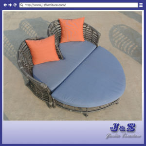 Garden Rattan Furniture, Vintage Outdoor Round Wicker Sofa Set (J357)