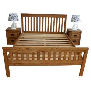 Solid Wood Oak Furniture-Antique Color Bed