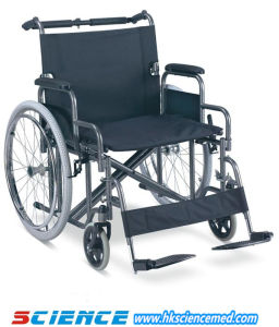 Heavy Duty Steel Wheelchair for Fat Person Use (SC-SW27-61) pictures & photos