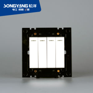 Electric Switch White Series 4gang Wall Switch pictures & photos