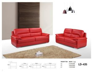 Simple Leather Sofa (LD-120) pictures & photos