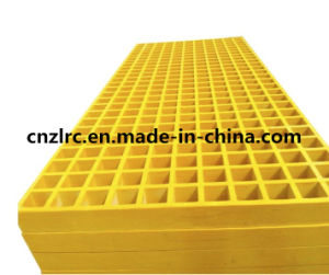 FRP Grating Yellow Fiberglass Mesh Sheet for Car Wash pictures & photos