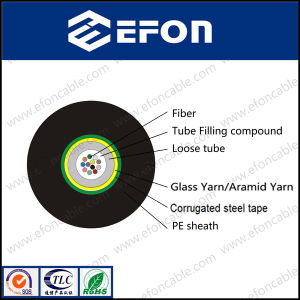 Single Mode Corrugated Steel Tape Armored Optic Fiber Cable (GYFXS) pictures & photos