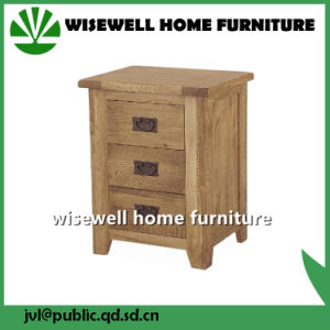 3 Drawer Cabinet Oak Wood Side Table (W-B-0036) pictures & photos