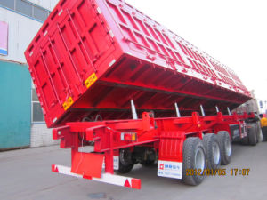 China Manufacturer Supply 20t-100t Side Tipping Semi Trailer pictures & photos
