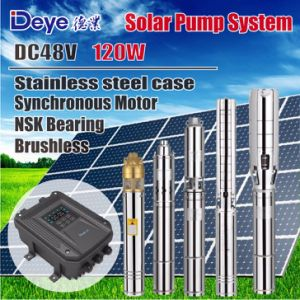 DC 48V 120W Submersible Solar Water Pump with MPPT Controller pictures & photos