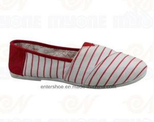 Slip on Ladies Comfortable Flat Canvas Shoes (ET-MY170427W) pictures & photos