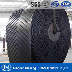 Endless Black Chevron Pattern Rubber Conveyor Belt China pictures & photos