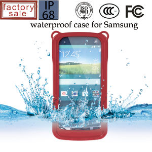 Red Protection Phone Case with Waterproof and Shock-Proof Features