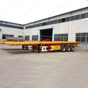 2017 Factory Price Tri-Axle Leaf Spring 60ton 40FT Container Semi Trailer pictures & photos