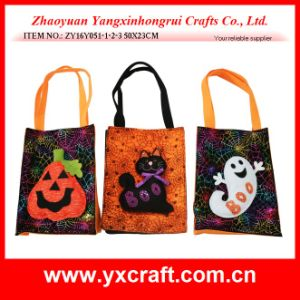 Halloween Decoration (ZY16Y052-1-2-3-4 40X19CM) Halloween Witch Handbag Halloween Tote pictures & photos